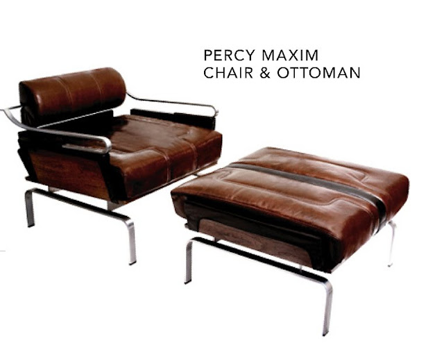 Percy Maxim Chair and Ottoman on if it's hip, it's here