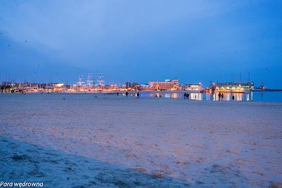 Port w Gdyni wieczorem