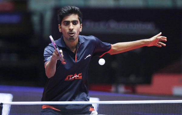 Sanil and Dabang Smashers T.T.C.'s  Sathiyan upsets top seeds at ITTF World Tour Platinum Australia Open