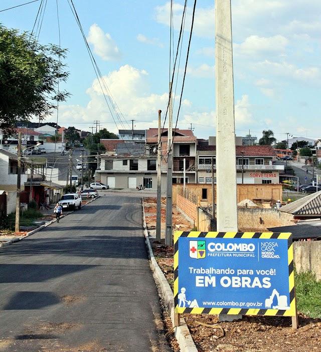Obras de pavimentação na Rua Heitor Villa Lobos estão em fase de conclusão
