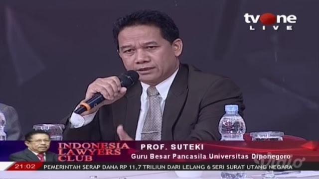 Prof Suteki : Urgen Dibentuk TPF Dugaan Makar Ideologi Melalui RUU HIP
