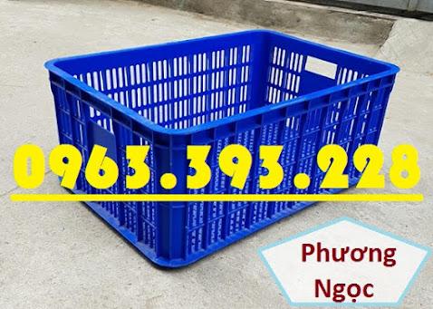 Sóng nhựa hở HS014, sọt nhựa rỗng công nghiệp, sọt nhựa đựng hàng hóa SR256