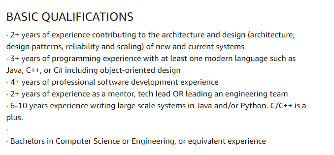 Amazon Work for Home Jobs for Senior Software Engineer