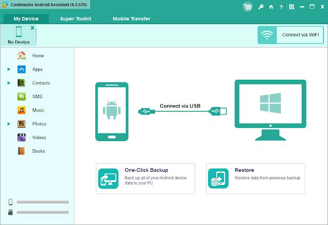 برنامج  Coolmuster Android Assistant لإدارة بيانات هواتف أندرويد