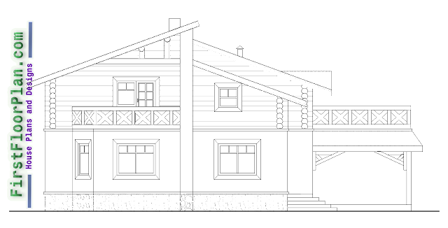 side elevation of duplex house