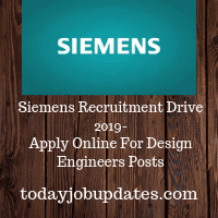 Siemens Recruitment Drive 2019