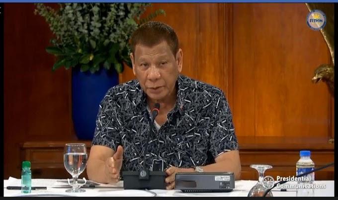 Midnight public address held by Pres. Duterte on Wednesday