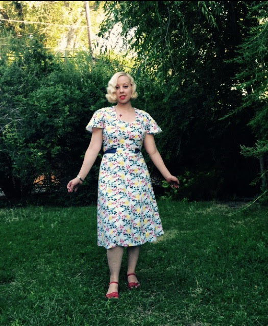 2-Hour Dress! A Vintage Pattern Pledge Project Complete! Outfit Post