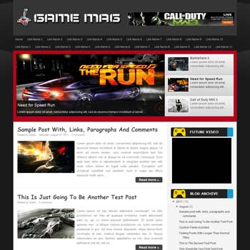 Game Mag blogger template. download games template for blogger
