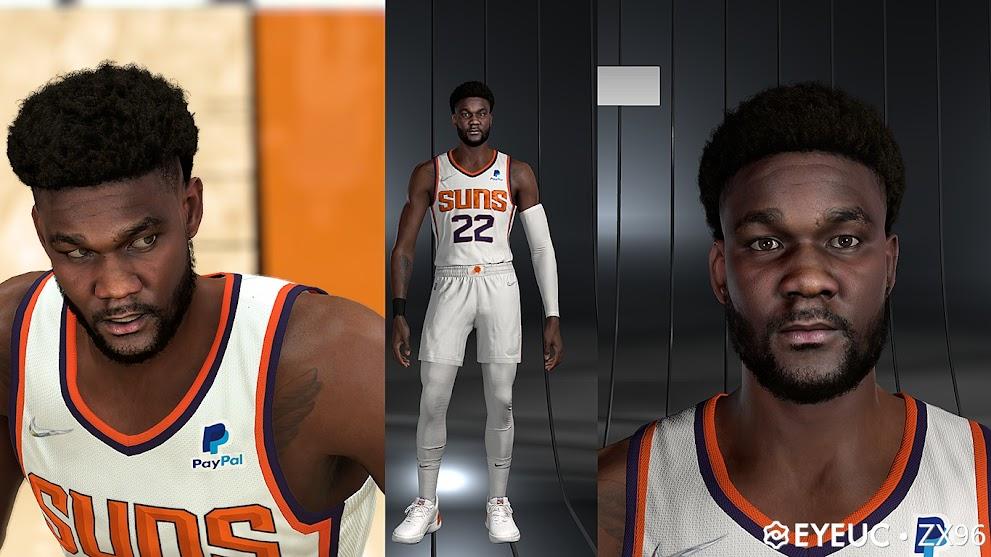NBA 2K22 Deandre Ayton Cyberface and Body Model By ZX96