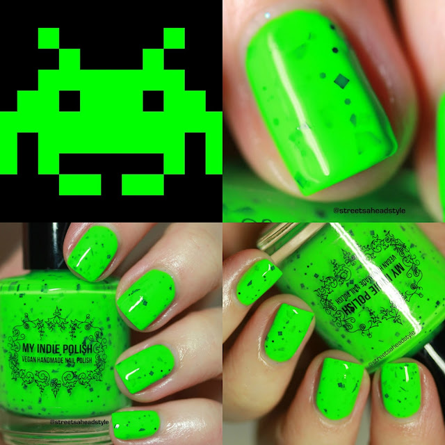 My Indie Polish Space Invaders April 2018 Space Polish Pickup