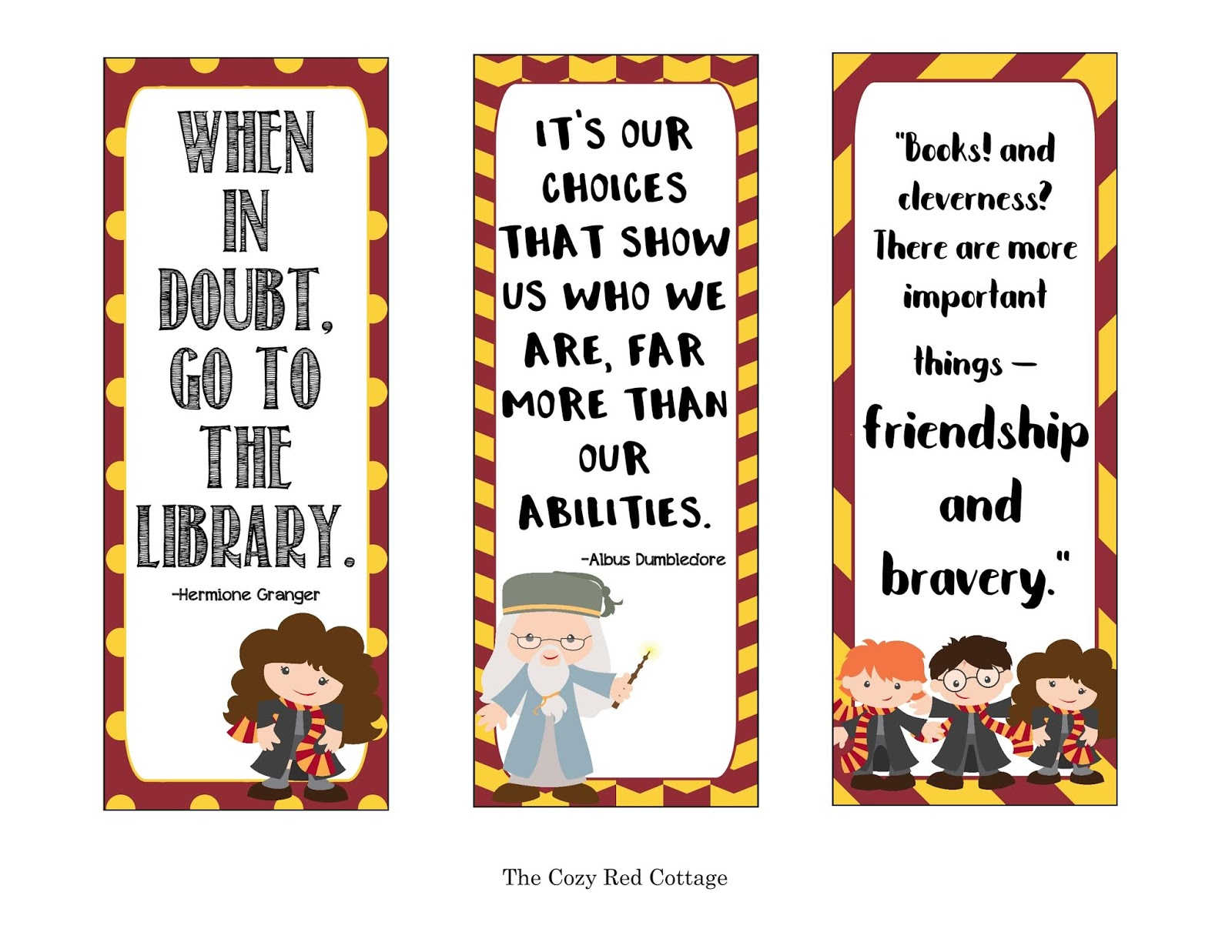 picture relating to Printable Harry Potter Bookmarks named The Snug Purple Cottage: 20 Magical Harry Potter Programs