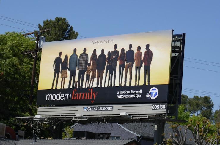 Modern Family final episodes billboard