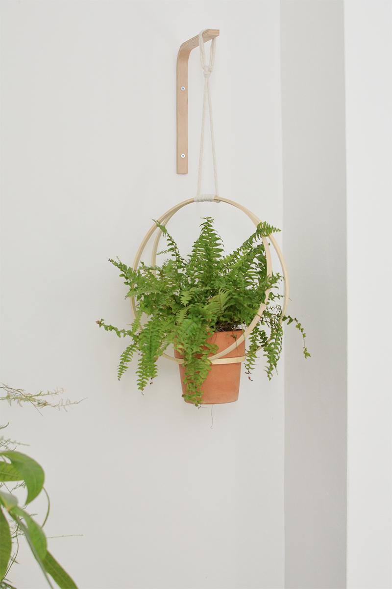 modern hanging planter diy