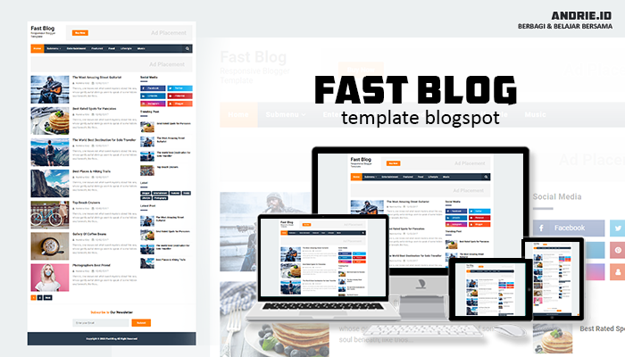 Fast Blog Responsive Blogger Template and SEO Friendly