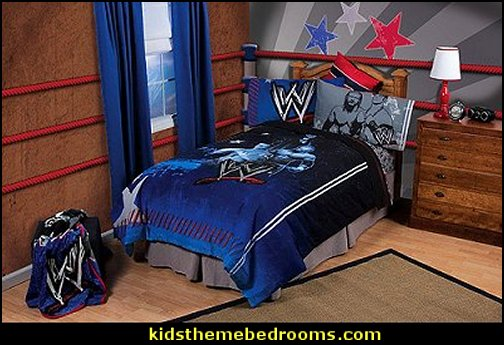 WWE bedroom ideas WWE decorations boys wrestling room decor wrestling room decor
