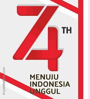 Logo HUT RI Ke 74