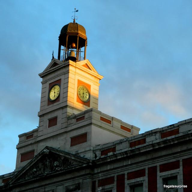 Relógio do Edifício dos Correios, na Porta do Sol, em Madri