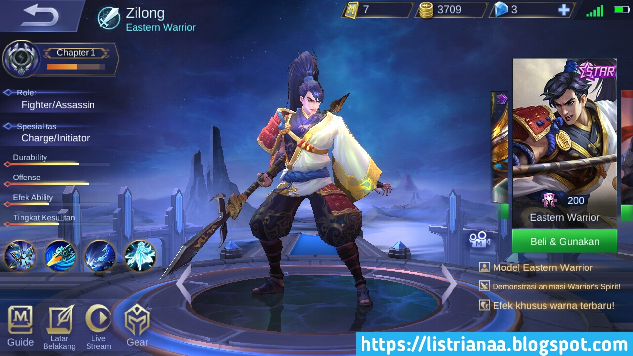 Build Zilong Terbaik Sekali Ciduk Musuh Mati Mobile Legends 2019 5