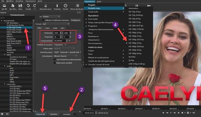 esportazione video da GIF