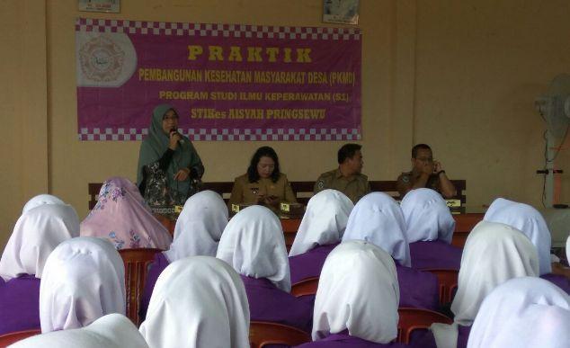 Penyerahan Mahasiswa Keperawatan PKMD di Kelurahan Fajar Agung tahun 2018 stapbaak