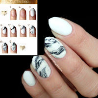Manicure hybrydowy Cosmetics Zone 033 & 003 - Marble Nails + Sharm Effect