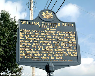 William Chester Ruth Historical Marker in Lancaster County, Pennsylvania