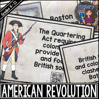 Thumbnail of American Revolution Timeline Activity by History Gal