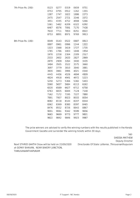 Kerala Lottery Results 08-09-2020 Sthree Sakthi SS-226 Lottery Result_page-0002
