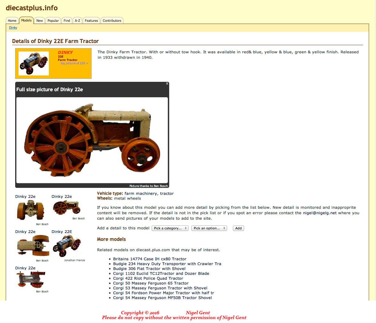 Used Toys Website : Old antique toys a fabulous dinky toy website
