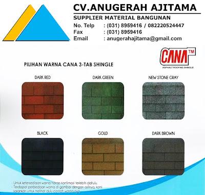 Warna Atap Bitumen Cana