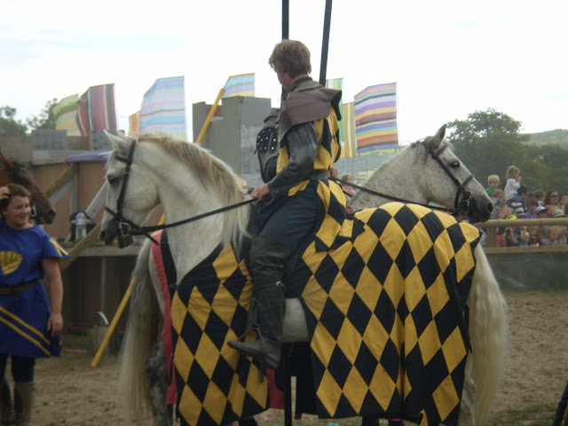 a knight on a horse at a joust