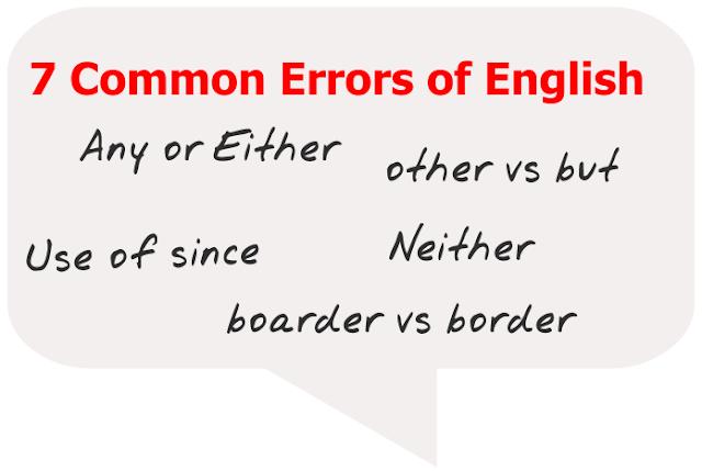 Common error in english, grammar mistakes, grammar, english