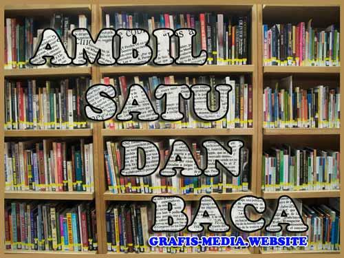 poster membaca buku di perpustakaan