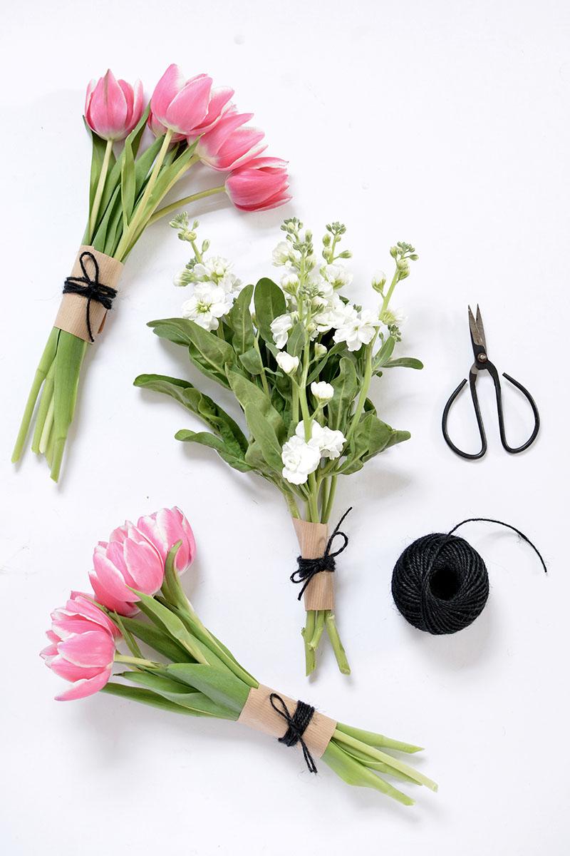 Diy 4 Ways To Wrap A Flower Bouquet Burkatron Bloglovin