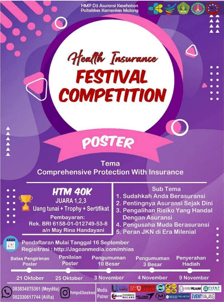 Lomba Poster Health Insurance Festival Poltekkes Malang 2019 SMA Sederajat