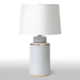 Barbara Cosgrove Patterned Porcelain Table Lamp