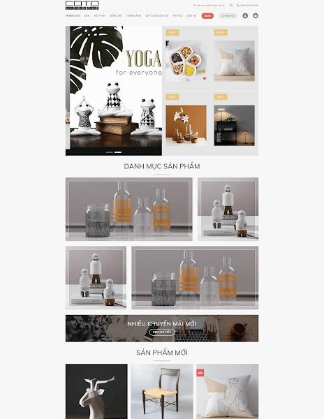 Theme wordpress bán sản phẩm trang trí nội thất nhà cửa