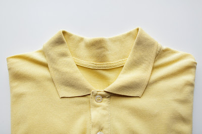 Close up of adidas polo tee