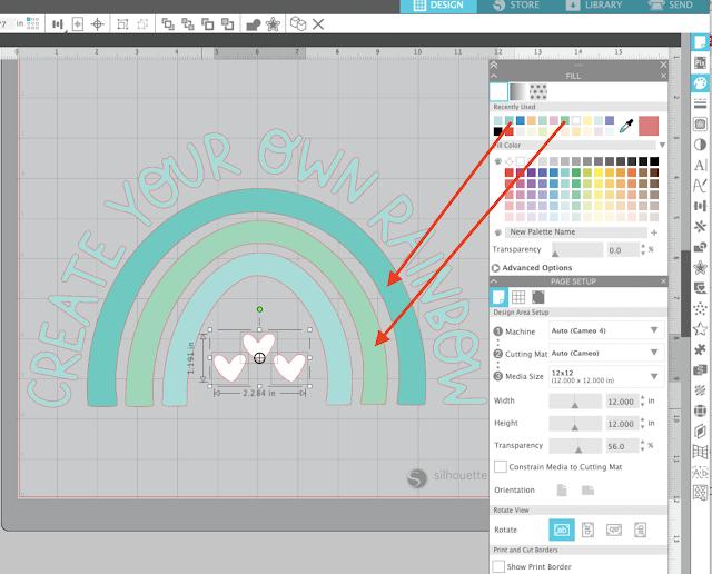 silhouette studio, silhouette studio v4, fill color tool, fill color, trace