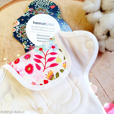 Serviette Hygiénique Lavable Hannahpad