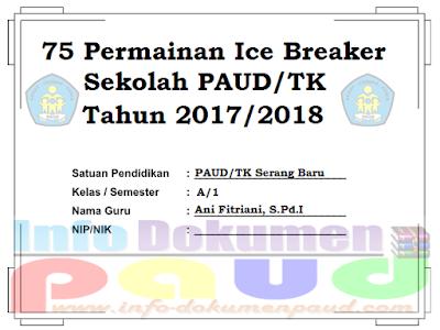 75 Permainan Ice Breaker Sekolah PAUD/TK