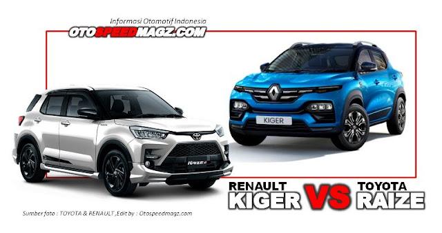 Komparasi-Toyota-Raize-1.0L-Turbo-VS-Renault-Kiger-indonesia-2021