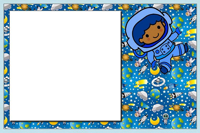 Astronaut Kid Party: Free Printable Invitations.