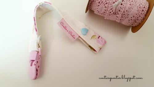 Conjunto de bebé em tecido - Suporte de chupeta