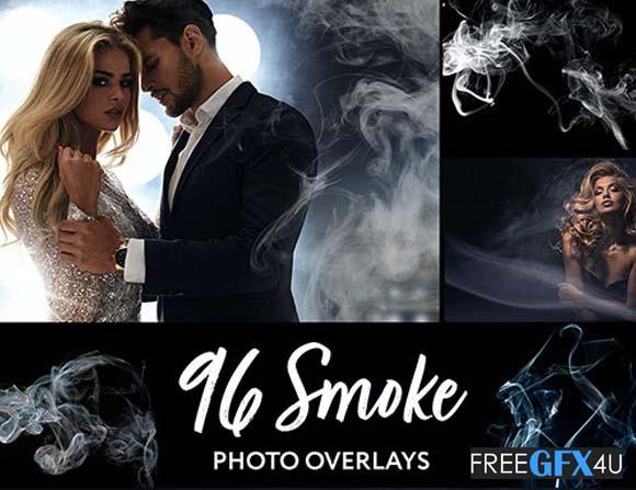 96 Realistic Smoke Photoshop Overlays Pack