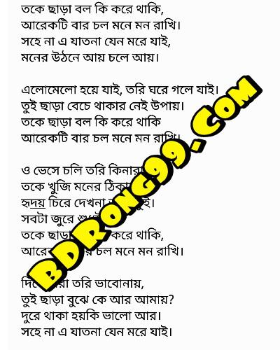 Toke Chara Bol Ki Kore Thaki | Habib Wahid | Bangla New Song Lyrics
