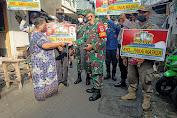 Petugas Gabungan Bersama Koramil 02/TB Gencar Laksanakan Sosialisasi PPKM Guna Mencegah Penyebaran  Covid-19