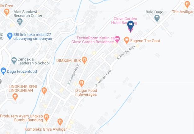 Map Letak Hotel Clove Garden Bandung