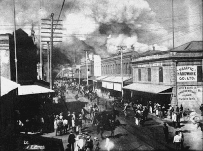 Pandemic: Critics condemned the strategy of setting fire to houses in Chinatown, accusing authorities of sinophobia.
